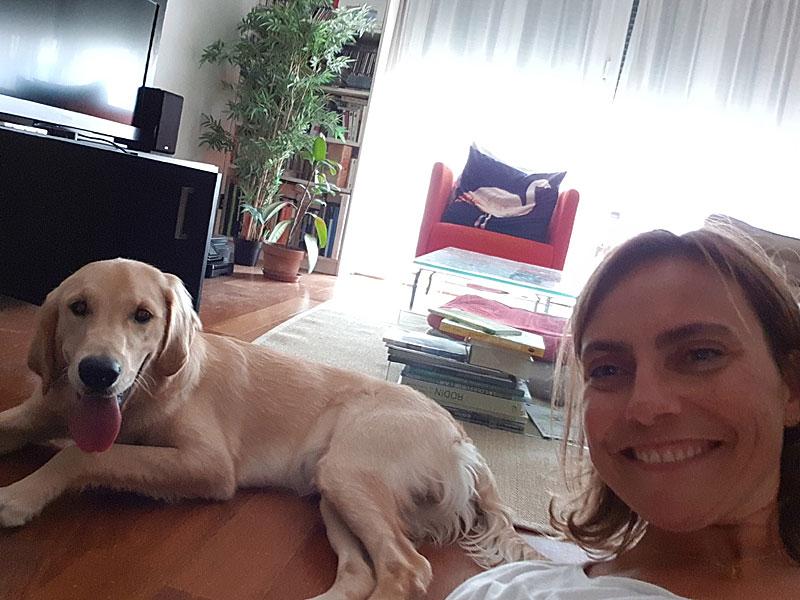 Nancy Garanto et un de ses chiens