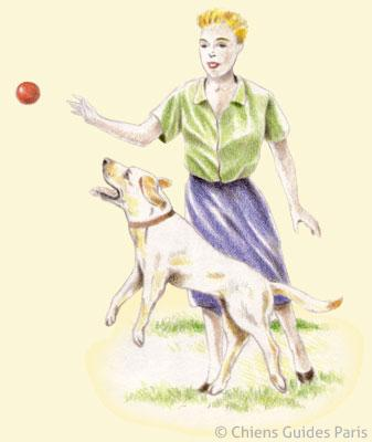 Alice joue à la balle avec Flash
