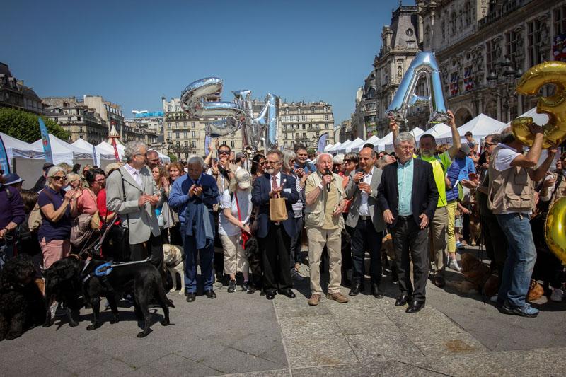 Les 30 ans des chiens guides de Paris, reportage