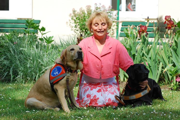 Dominique avec Riade et Egée